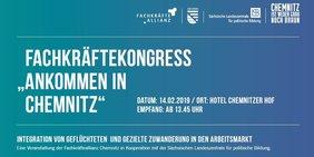 """Fachkräftekongress """"Ankommen in Chemnitz"""""""