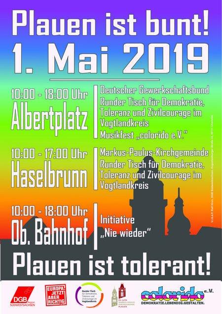 Plakat 1. Mai Plauen