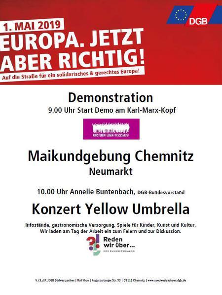 1. Mai Flyer Chemnitz