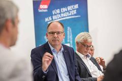 DGB Bundesvorstand Stefan Körzell in Chemnitz