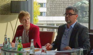 MdB Susann Rüthrich und Ralf Hron DGB SWS.