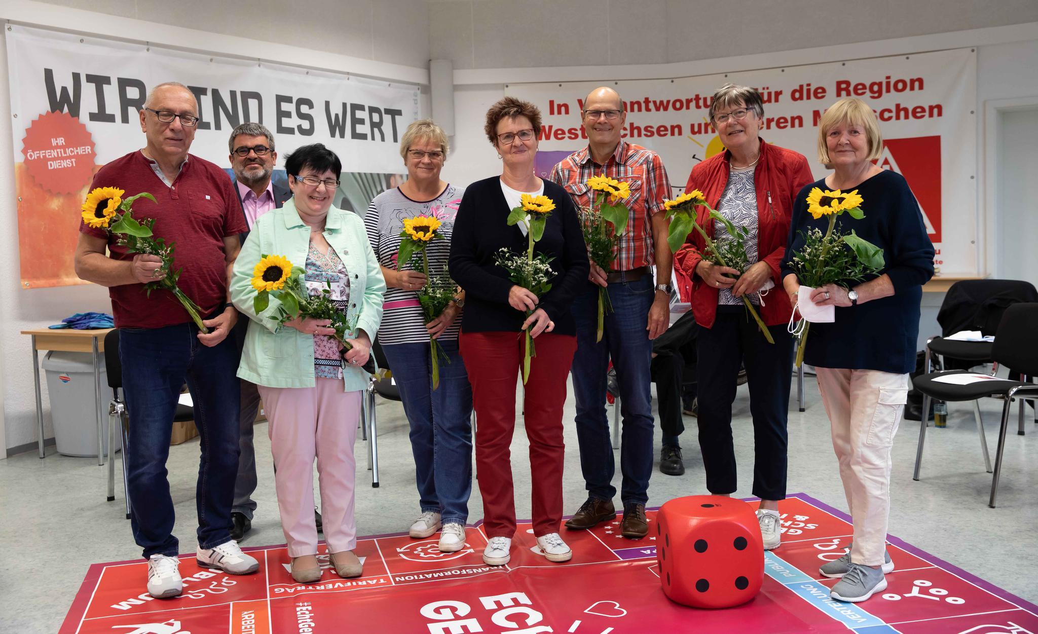 Vorstand des DGB-Kreisverbandes Zwickau