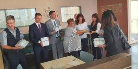 Besuch von MP Kretschmer und SMWA Chef Dulig