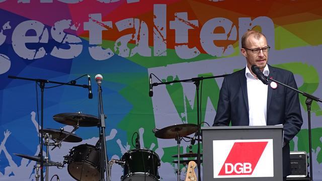 Landesbezirksleiter von ver.di SAT, Oliver Greie.