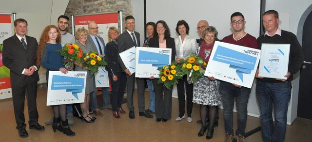 """Auszeichnungsveranstaltung am 5.10.2017 in Freiberg für die """"Unternehmen für Toleranz"""" 2017."""