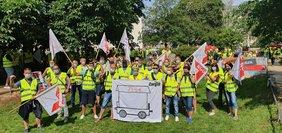 NGG Streik VA Ernährungswirtschaft in Dresden 2020