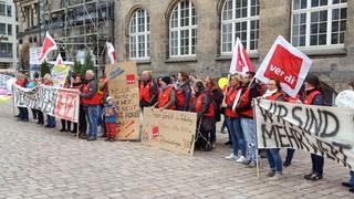 ver.di demonstriert in Chemnitz am 2. Mai 2017