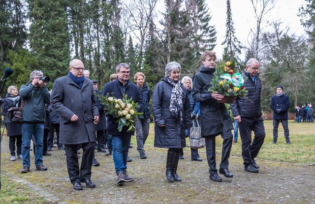 Gedenkveranstaltung zum Chemnitzer Friedenstag auf dem Städischen Freidhof am 5.3.2019