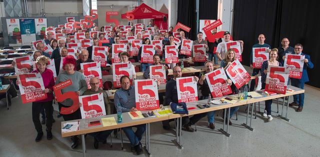 Delegiertenversammlung IG Metall Chemnitz Erzgebirge zur  DGB Kampagne zur Bildungszeit am 20.3.2019.