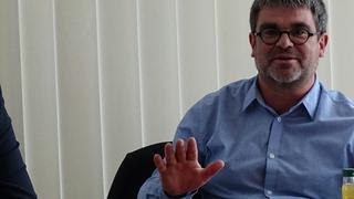 Ralf Hron (DGB) im Gespräch