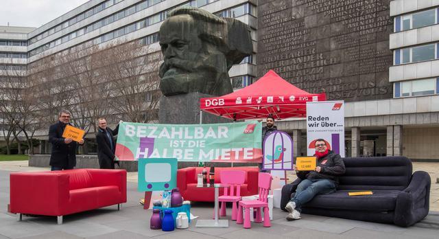 """DGB Zukunftsdialog am 26.3.2019 in Chemnitz . """"Bezahlbar ist die halbe Miete"""""""