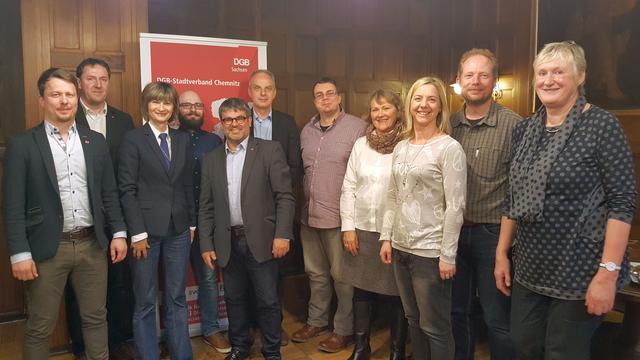 Treffen des DGB mit der Chemnitzer OB Barbara Ludwig am 26.3.2018.