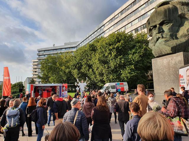 LINKE Chemnitz am 22.9.2021 vorm Nischel