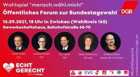Einladung Wahlforum Zwickau
