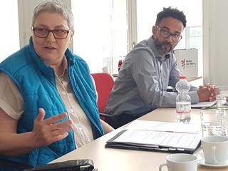 DGB Vize Elke Hannack und Thomas Lißner NGG