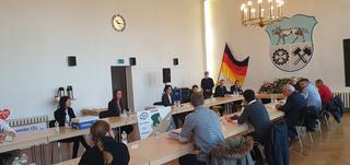 Diskussion im Rathaus Wilkau-Haßlau am 12.11. 2020