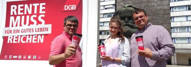 Sommertour zur DGB Rentenkampagne.