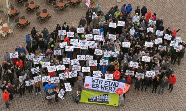 22.3.2018 Verdi Warnstreik im Öffentlichen Dienst in Chemnitz nach der 2. Verhandlungsrunde.