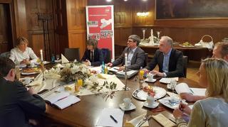 Treffen mit OB B. Luwig im Ratskeller Chemnitz.