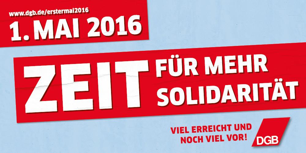 1. Mai - Zeit für mehr Solidarität