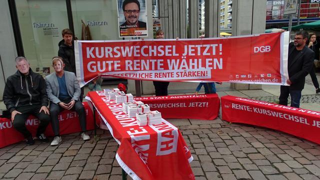 """""""Rente nicht auf die lange Bank schieben"""" Chemnitz 15.9.2017."""