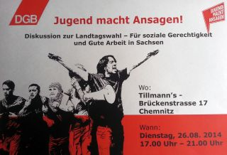 Jugend macht Ansagen! 26.8. im Tillmann's in Chemnitz ab 17.00 Uhr.