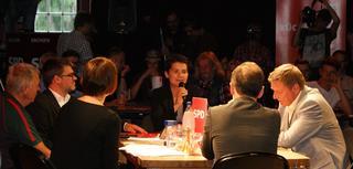 Diskussion am Küchentisch im Alten Gasometer Zwickau am 17.7.2017