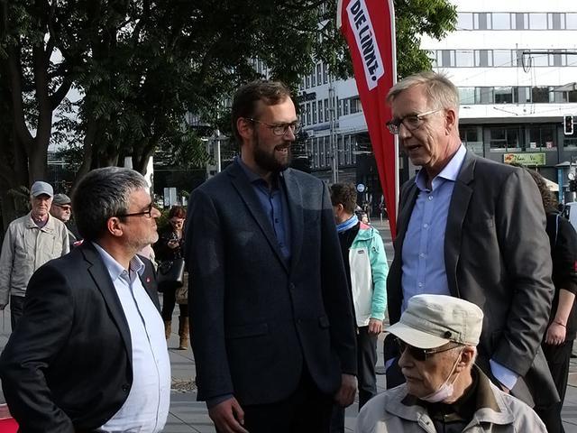 Dietmar Bartsch, Tim Detzener und Ralf Hron