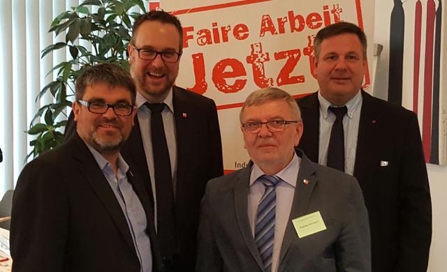 v.l.n.r: Ralf Hron, Carsten Burkhardt, Andreas Herrmann, Mirko Hawighorst