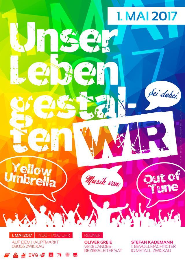Plakat 1. Mai Zwickau
