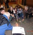 Stolperstein Mittweida mit Schülern und DGB-OV Erlau